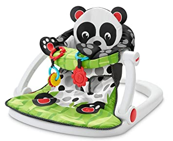Amazoncom Fisher Price Sit Me Up Floor Seat Panda Paws Baby