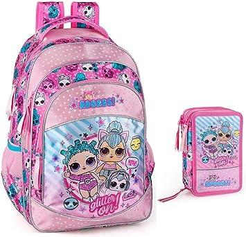 LOL Surprise Mochila escolar para niña, estuche L.O.L. Muñecas: Amazon.es: Equipaje