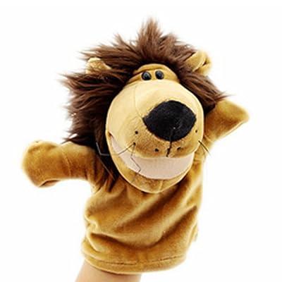 Isuper Marionetas de Mano,Peluche de Mano,Juquete Felpa de Mano de Dedo Diseño de Animal Lindo Peluche para bebé(León): Juguetes y juegos