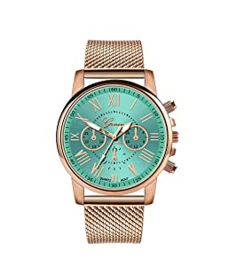 Womens Luxury Wristwatch, Balakie Roman Numerals Stainless Steel Mesh Band Analog Quartz Watch-A143 Valentine's Day Gift(Green)