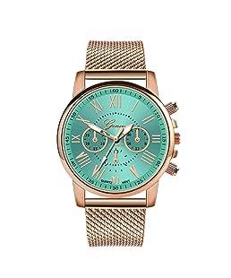 Womens Luxury Wristwatch, Balakie Roman Numerals Stainless Steel Mesh Band Analog Quartz Watch-A143 Valentine Gift