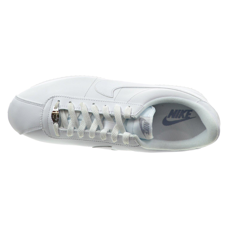 e012f695f31 Nike Cortez Basic Leather Men s Shoes White Wolf Grey Metallic Silver  819719-110
