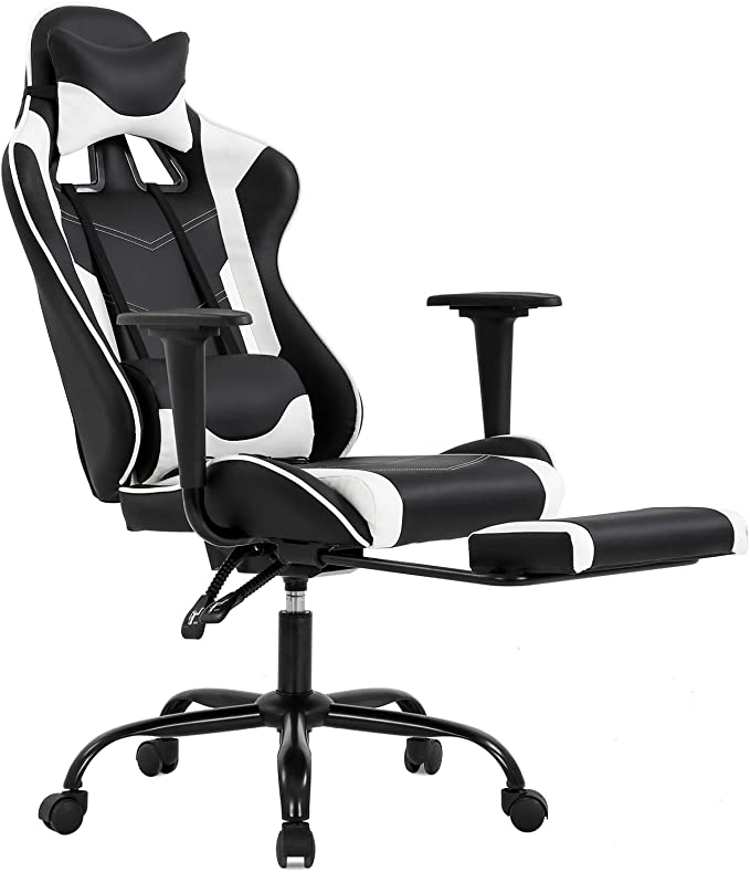 BestOffice Ergonomic Office and Gaming Chair - Lumbar Support with Footrest