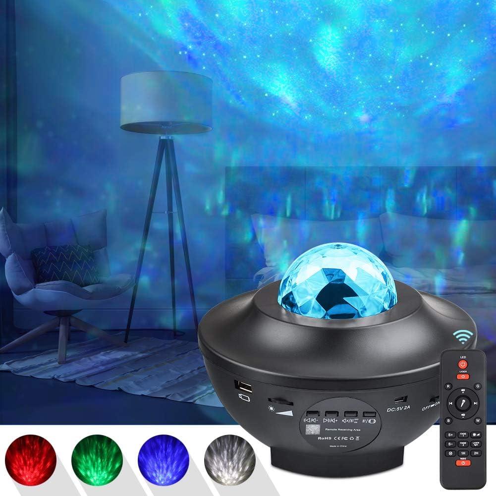 UOUNE LED Projektionslampe Sternenhimmel Projektor Romantische Nacht Lampe Projektion Blaues Stern Licht