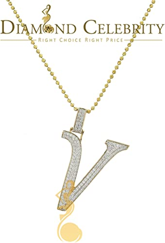 10k Yellow Gold Initial V Pendant