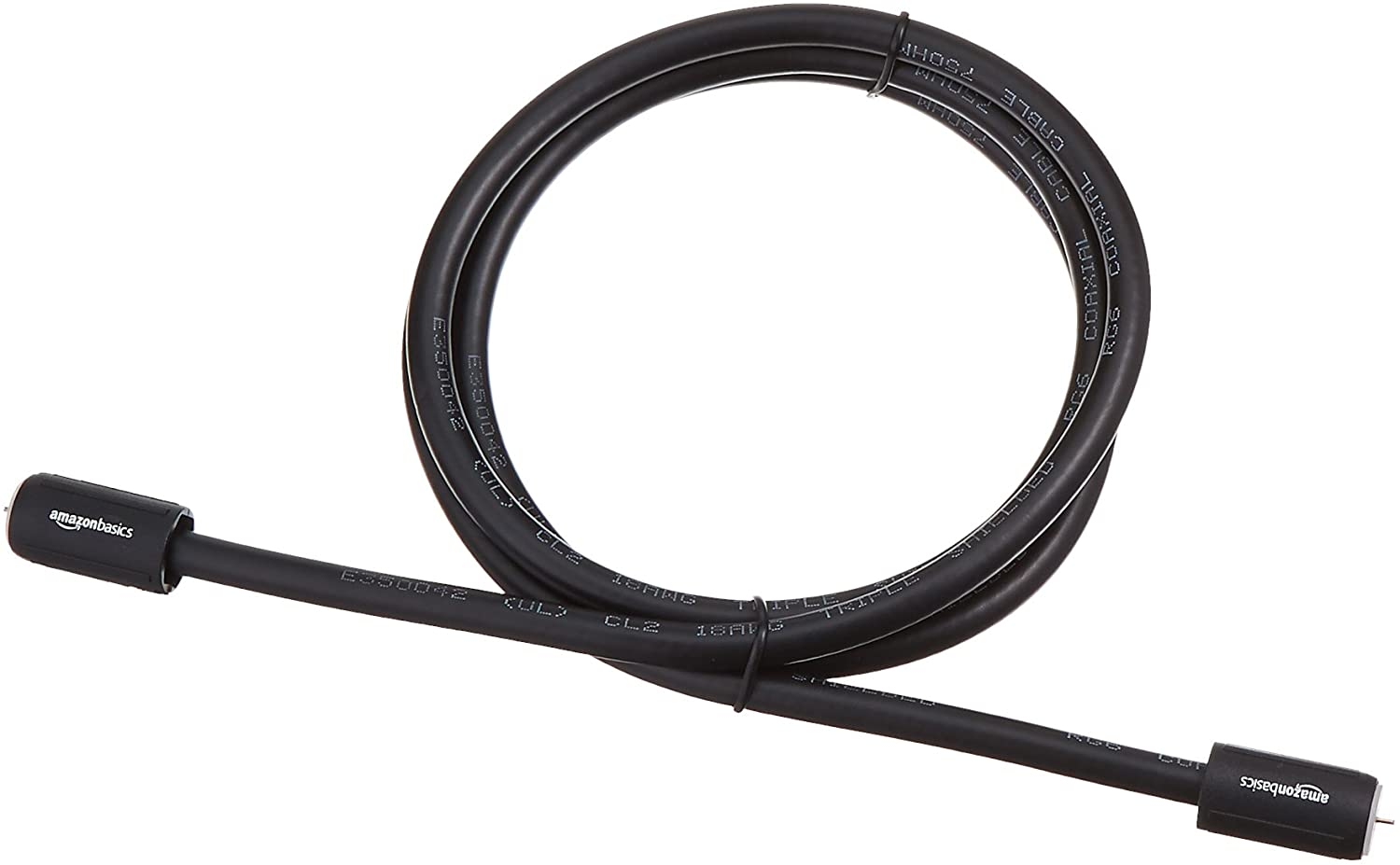 Basics CL2-Rated Coaxial TV Antenna Cable 4 feet