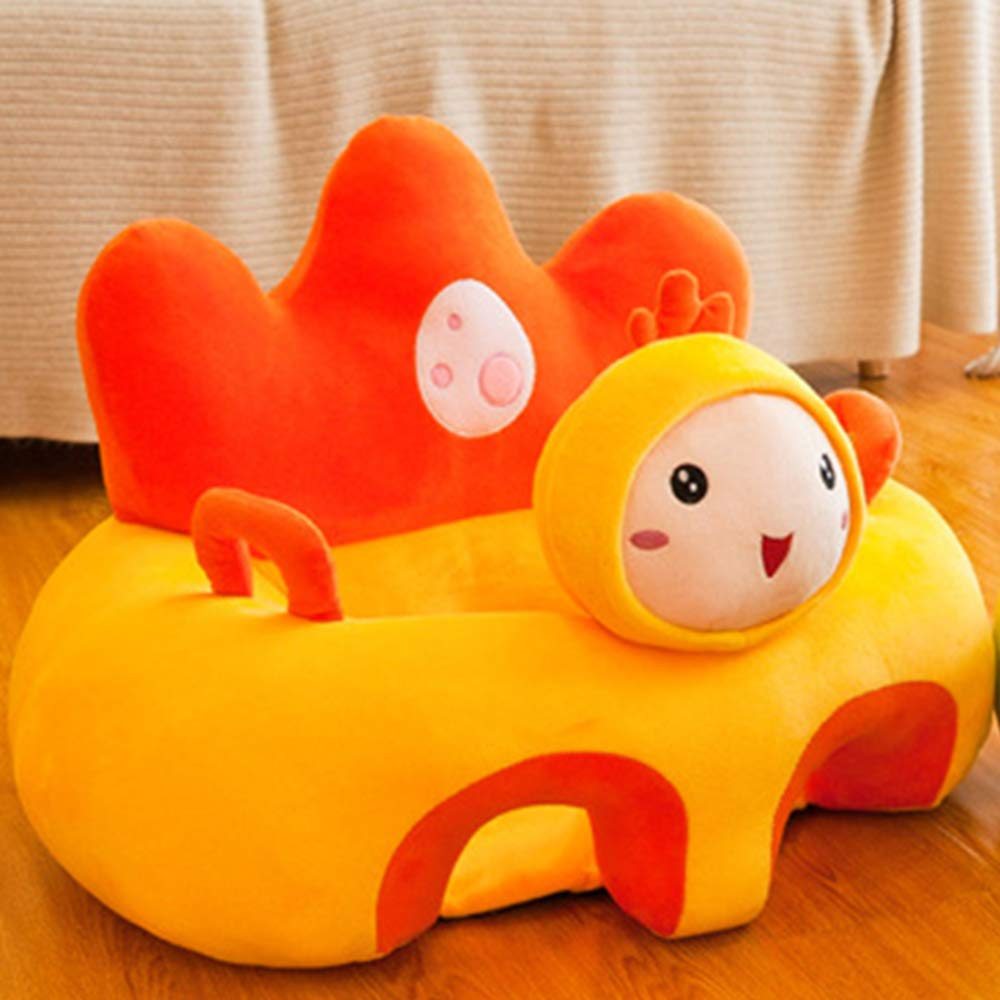 Non-Toxic Soft Chair for 0-3 Months Baby wavewave Baby Plush Seat Sofa Support Seat Cover Baby Plush Chair Learning to Sit