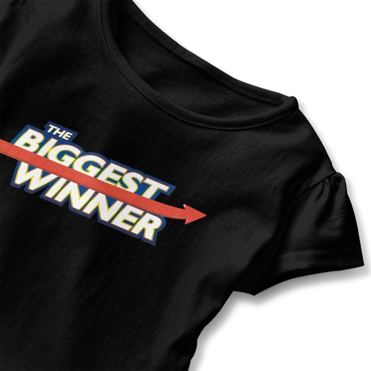 JVNSS Biggest-Winner Shirt Design Baby Girl Flounced T Shirts Graphic T-Shirt for 2-6T Kids Girls