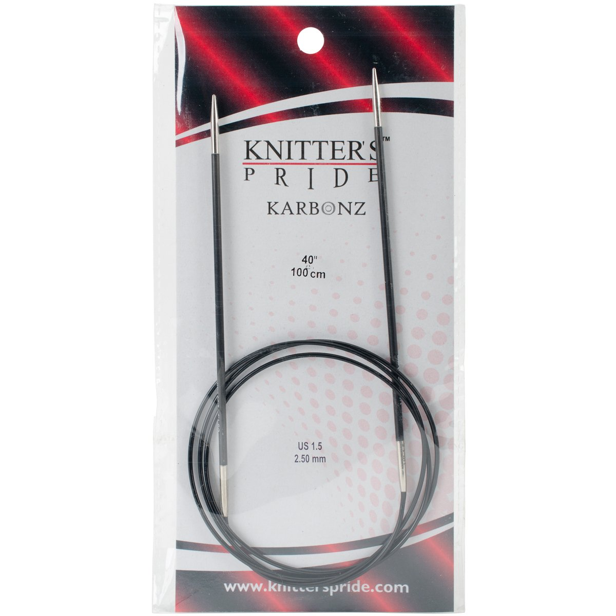 Knitter's Pride Karbonz Circular 40-inch (100cm) Knitting Needles; Size US 1.5 (2.50mm) 110233 by Knitter's Pride B00CQELQX8