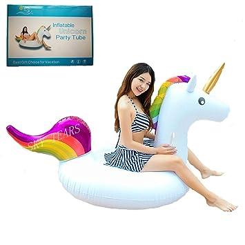 Flotador de Unicornio Hinchable Colchonetas Piscina Inflable Flotador unicornio Para Piscina al aire libre o Lounge