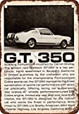 1965 Shelby GT 350 Vintage Look Reproduction Metal Tin Sign 12X18 Inches