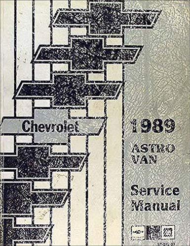 1989 Chevrolet Astro Van Repair Shop Manual Original