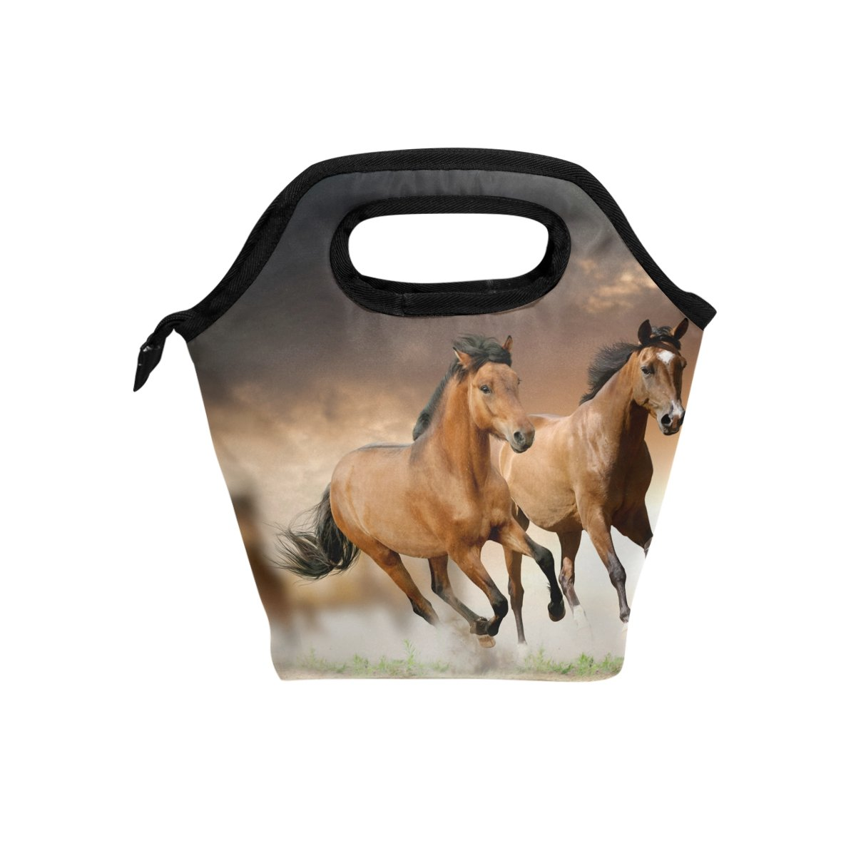 JSTEL - Bolsa de almuerzo para caballo africano, bolsa para el almuerzo, contenedor de alimentos, para viajes, picnic, escuela, oficina