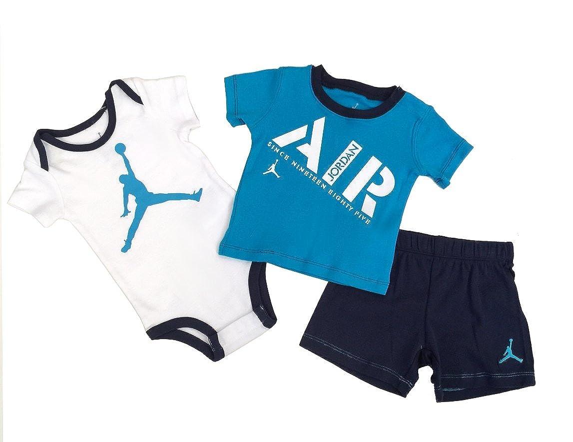 NIKE Jordan Infant Born Baby Bodysuit 3 Pcs Layette Set