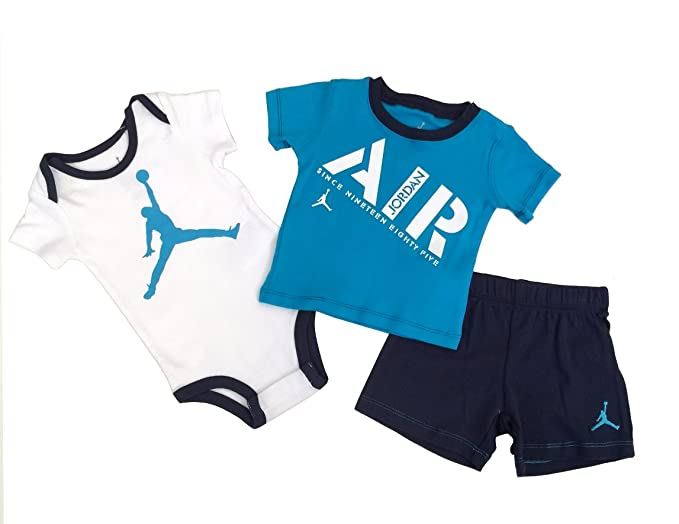 90d14979980720 Nike Jordan Infant New Born Baby Bodysuit and Pants 3 Pcs Layette Set (6