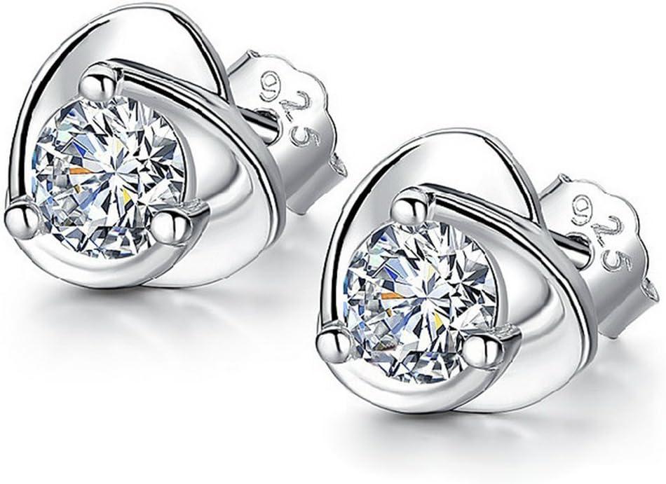 Lumanuby Pendientes Moda Creativo En Forma de corazón Cristal Colgante Earrings Mujer Pendiente