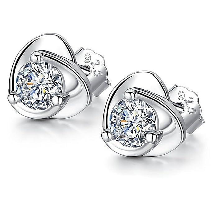 Pair of pretty diamante rhinestone stud dangle earrings crown /& heart design