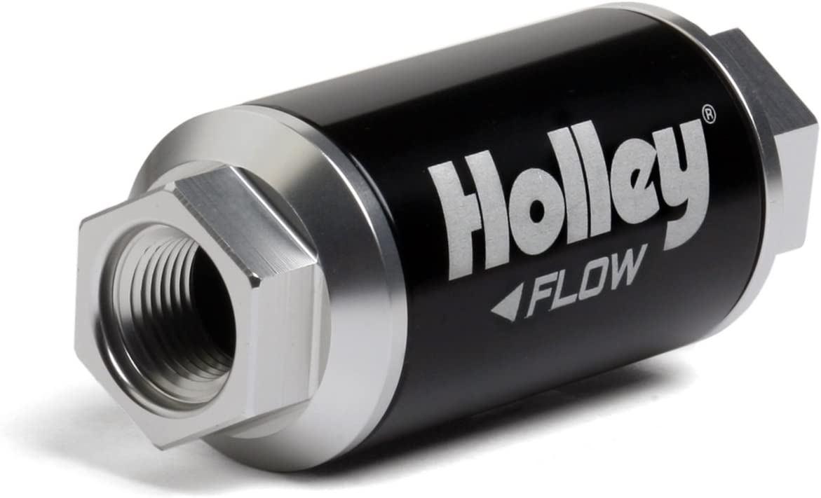 Holley 162-550 Black Billet Finish Fuel Filter