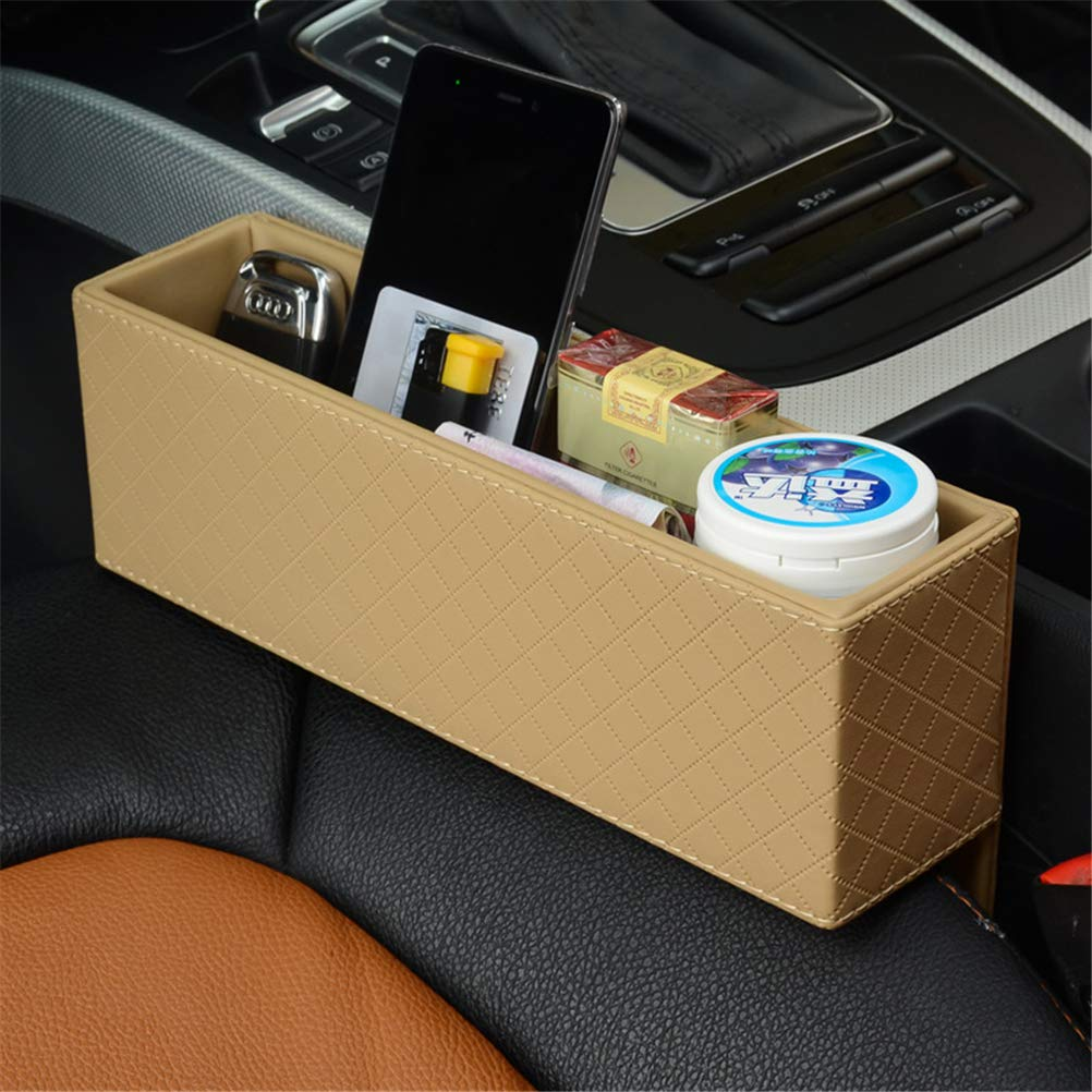 GFYWZ Car Seat Seat Console Gap Filler, Truck PU Leather Side Pocket Catcher Car Organizer para Pen Phone Monedas Holder,Beige,1Pcs: Amazon.es: Hogar