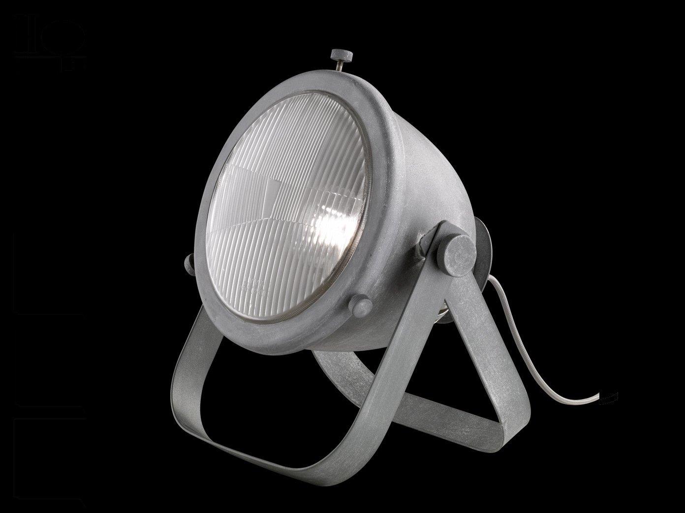 Retro lámpara de mesa faros Kent con LED, betonfarbig/gris ...