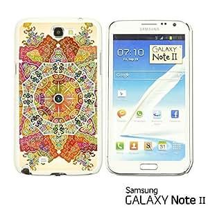 OnlineBestDigital - National Pattern Hardback Case for Samsung Galaxy Note 2 - Mandala Motif Round Lase Pattern