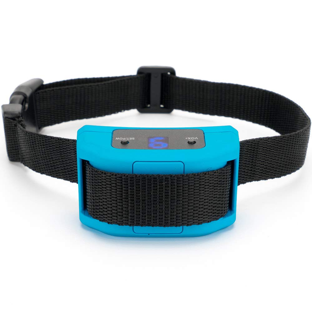 Best Buds Dog Bark Collar No Barking Shock Collar for Small Medium Large Dogs with Humane No Shock Mode Vibration Beep Sound Automatic Adjustable Electric Training Collar[Blue]