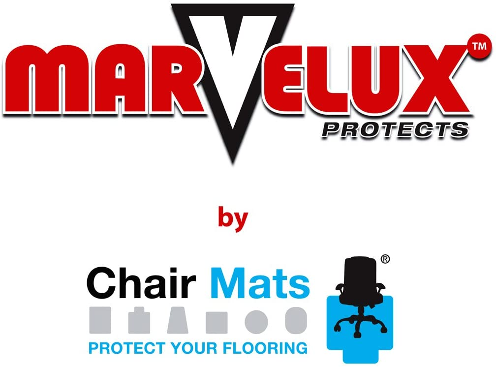 """Marvelux 48"""" x 60"""" Heavy Duty Polycarbonate Office Chair Mat for Low, Standard and Medium Pile Carpeted Floors 