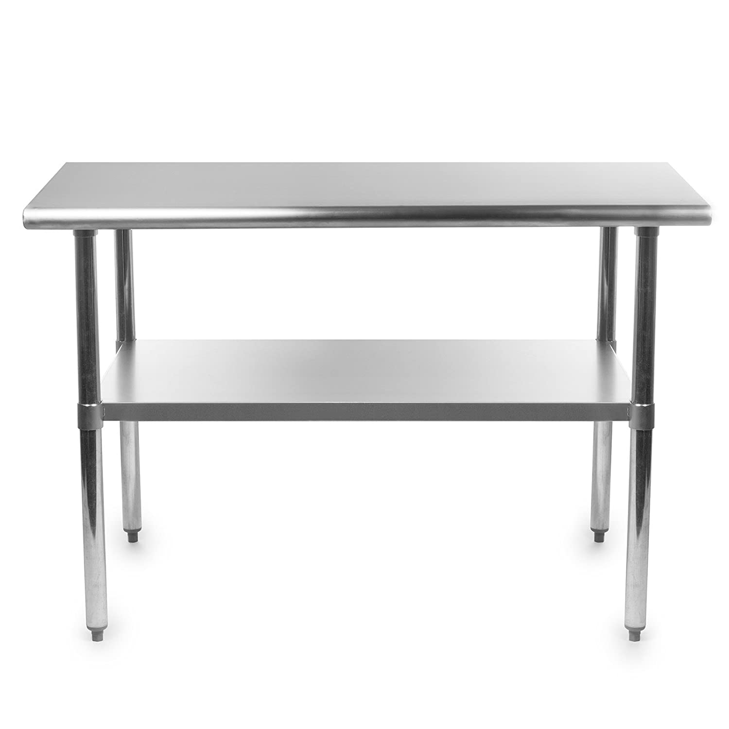 Amazoncom Gridmann 48 Inch X 24 Inch Stainless Steel Kitchen Table Industrial