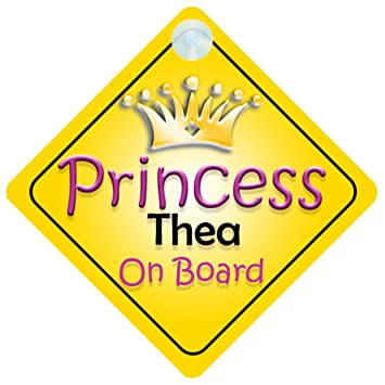 Amazon.com: Princesa Thea a bordo coche señal de niño/bebé ...