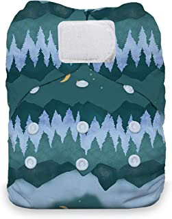 product image for Thirsties Natural One Size All in One Cloth Diaper, Hook & Loop Closure, Mountain Twilight