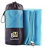 Microfiber Travel Towel Large (XL, L or M) - Fast Drying Super Absorbent Sport Towel - Ultra Compact Size Great for Kids, Bath, Gym, Pool, Beach, Camping, Fitness or Yoga