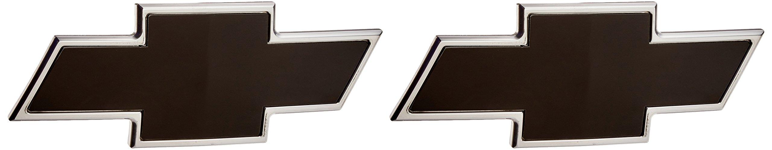 AMI 96101KP Chevy Bowtie Grille & Tailgate Emblem - Polished/Black Powder coat, 2 Pack