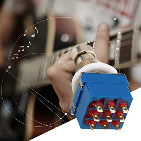 Swiftswan 9-Pin 3PDT Efectos de Guitarra Pedal Box Stomp Foot Switch de Metal True Bypass: Amazon.es: Deportes y aire libre