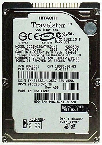 Dell Hitachi IDE 20Gb 4200rpm 2.5in Hard Disk Drive Dell Ide Hard Disk Drive