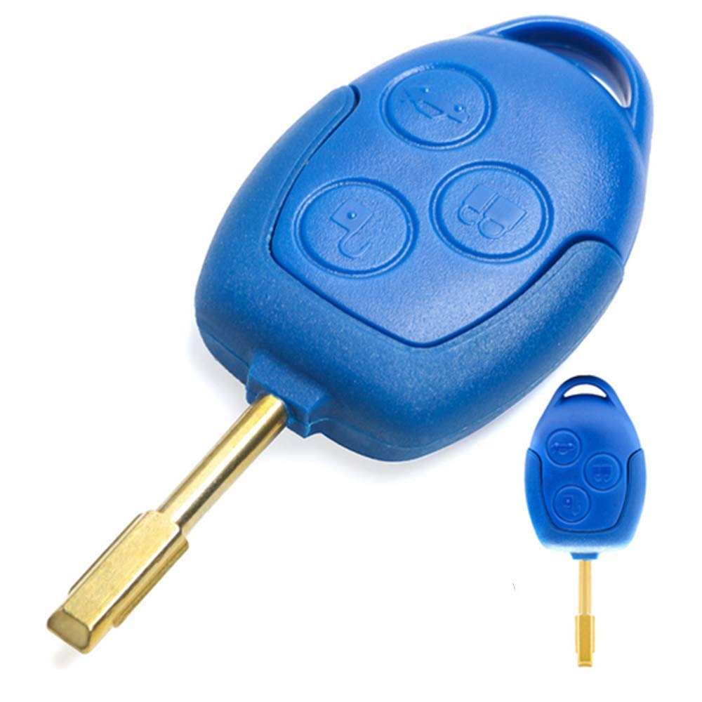 KATUR Folding Flip Remote Car Key 3 Button 433MHZ for Ford Focus Mondeo Fiesta with 4D-63 chip