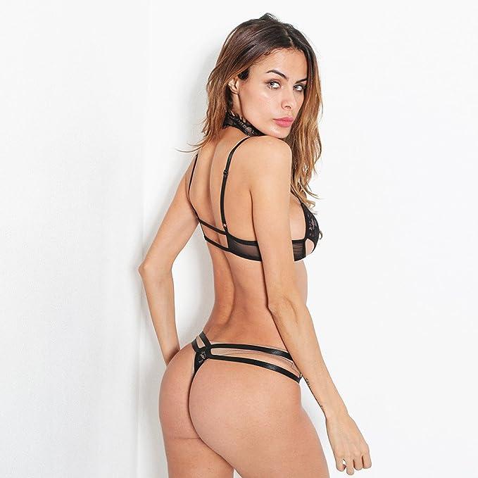 Lenceršªa Corset Sexy Women Lace Push Up Top Bra + Pants Conjunto de Ropa Interior Absolute: Amazon.es: Ropa y accesorios