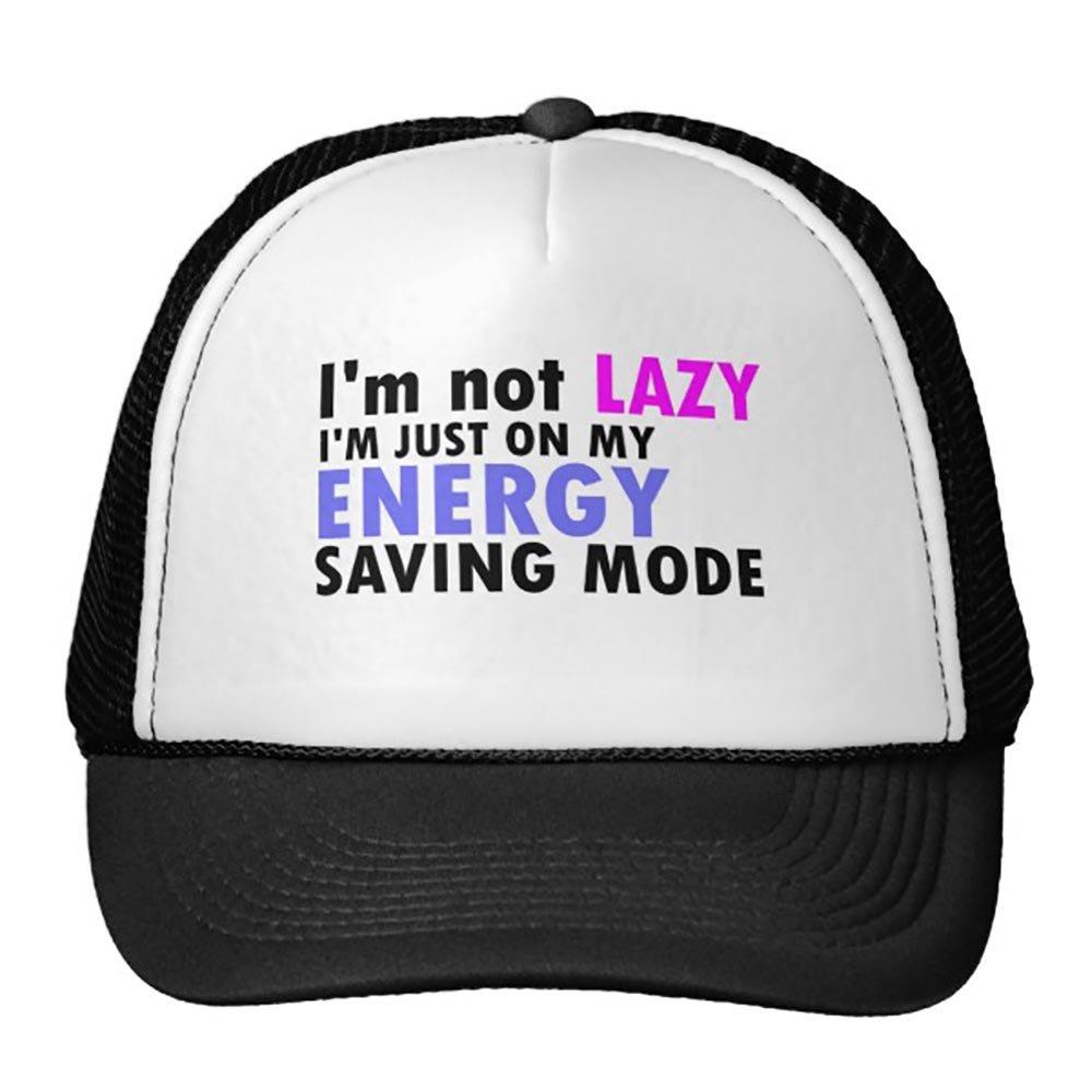 Funny Im Not Lazy Funny Trucker Hat Baseball Mesh Caps Black