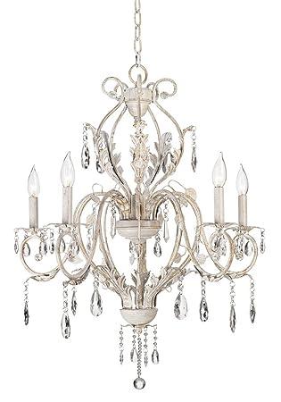 Kathy ireland devon 5 light antique white crystal chandelier kathy ireland devon 5 light antique white crystal chandelier aloadofball Gallery