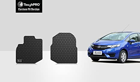 ToughPRO Honda Fit Floor Mats   Two Front Mats   All Weather   Heavy Duty