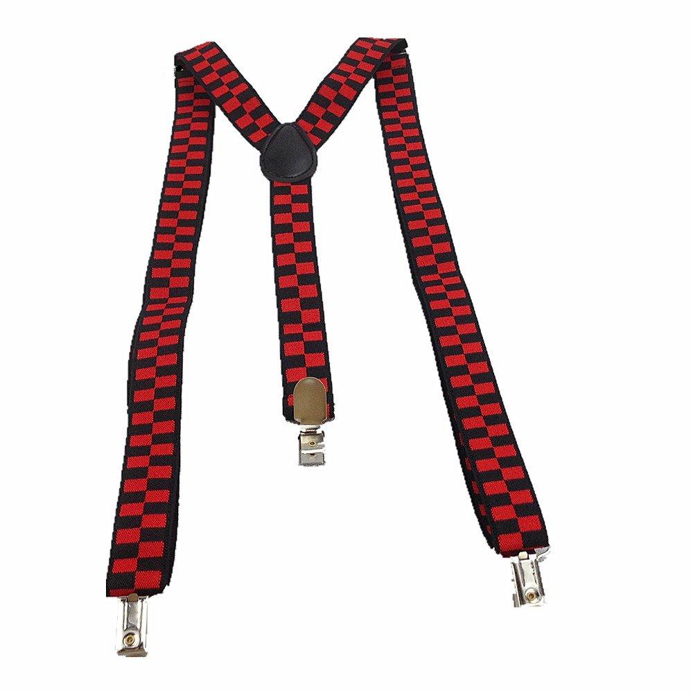 Uomo Donna Long bretelle Y Form Style 3 Clips chrysokoll pannello colorato con diversi immagine