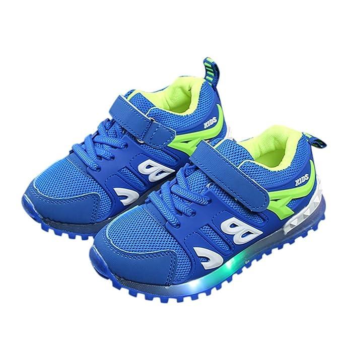 ❤ Zapato Deportivo Flash para niños, Niño Niños Niñas Niños Luz Led Carta Luminoso Sport Mesh Outdoor Casaul Shoes Absolute: Amazon.es: Ropa y accesorios