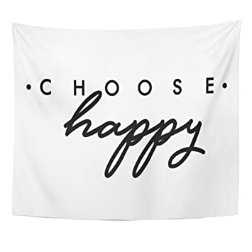 Amazoncom Tompop Tapestry Slogan Choose Happy Quote In Beauty Text
