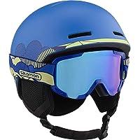 Salomon Kinderen ski- en snowboardhelm met skibril (categorie 2), geschikt voor brildragers, maat