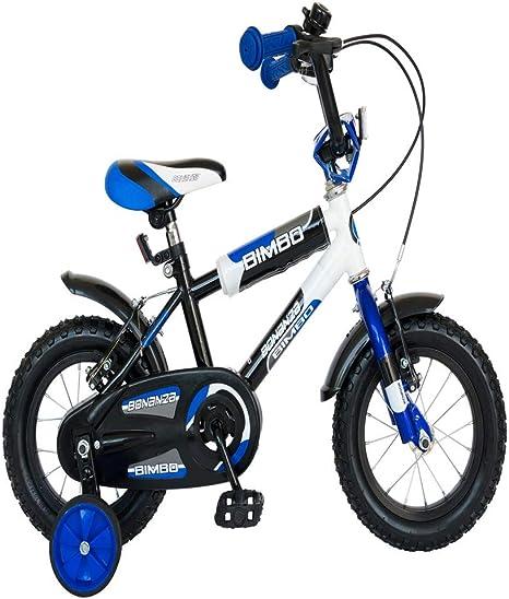 bvsdreuy Bicicleta para niños, Marco de Acero, Bicicleta de montaña para niños y niñas con Ruedas de Entrenamiento: Amazon.es: Deportes y aire libre