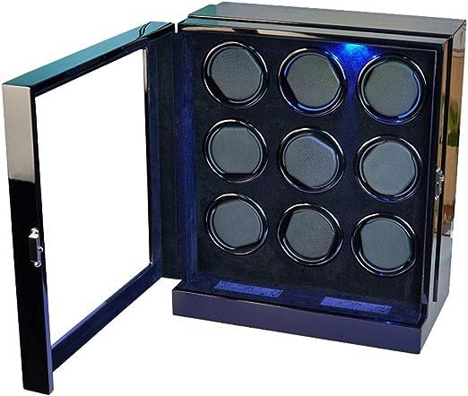 Caja Relojes Automaticos Mira enrolladores | Enrollador de Reloj Doble - Adecuado para 9 Relojes: Amazon.es: Relojes