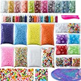 Slime Supplies Kit, 56 Pack Slime Kit For Girls, Include Foam Balls, Fishbowl beads, Glitter Jars, Fruit Slices, Sugar Paper, Slime Tools For Homemade Slime, DIY Slime Making