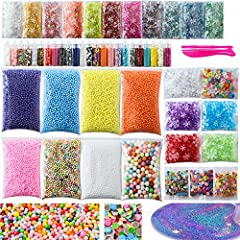 DIY accessories for Homemade Slime2018 most famous on instagramMore foam beads for slime = more crunchy slime blobs = more fun! A colorful slime gets poked, prodded, maybe even cut, and then reformed and squashed back together again. But I li...