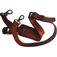 Gbag (T) Leather Adjustable Padded Replacement Shoulder Strap with Metal Hooks for Messenger, Laptop, Camera, Duffle Bags & More