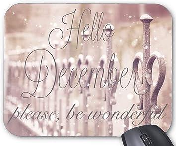 Amazon Com Bglkcs Goodbye November Hello December Design Mouse