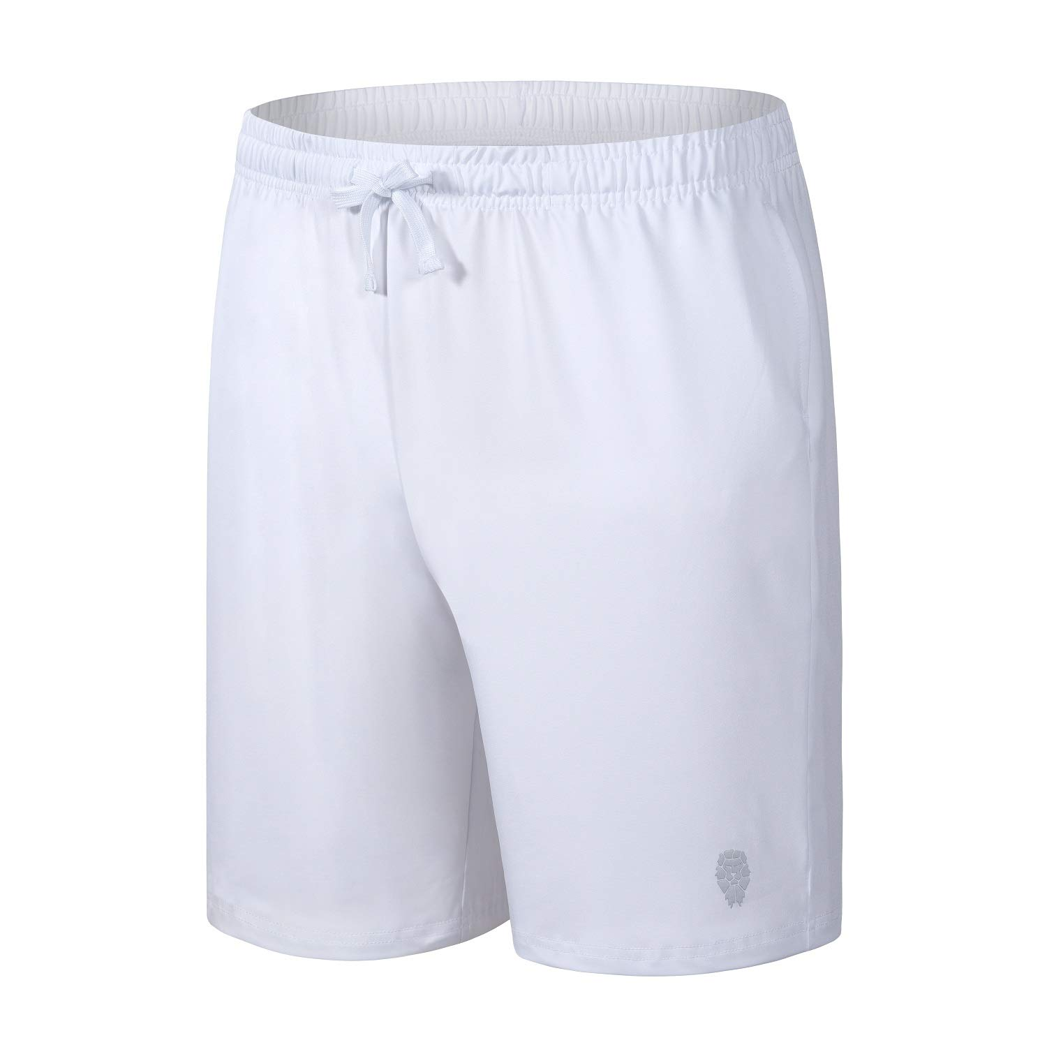 PIQIDIG Youth Boys' Loose Fit Athletic Shorts Quick Dry Active Shorts with Pocket, 2-Pack (White-1(1-Pack), X-Small) by PIQIDIG